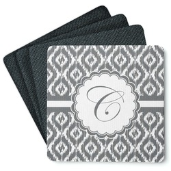 Ikat 4 Square Coasters - Rubber Backed (Personalized)
