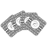 Ikat Cork Coaster - Set of 4 w/ Initial