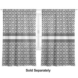 "Ikat Curtains - 20""x63"" Panels - Unlined (2 Panels Per Set) (Personalized)"