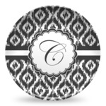 Ikat Microwave Safe Plastic Plate - Composite Polymer (Personalized)