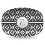 Ikat Plastic Platter - Microwave & Oven Safe Composite Polymer (Personalized)