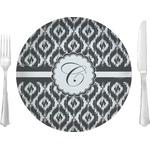 Ikat Glass Lunch / Dinner Plates 10