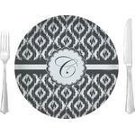 "Ikat Glass Lunch / Dinner Plates 10"" - Single or Set (Personalized)"