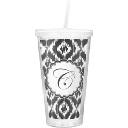 Ikat Double Wall Tumbler with Straw (Personalized)