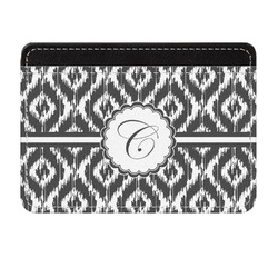 Ikat Genuine Leather Front Pocket Wallet (Personalized)