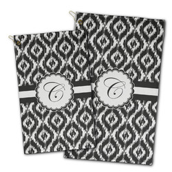 Ikat Golf Towel - Full Print w/ Initial