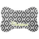 Ikat Bone Shaped Dog Food Mat (Personalized)