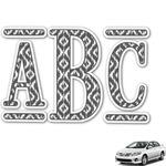 Ikat Monogram Car Decal (Personalized)