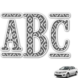 Ikat Monogram Car Decal (Personalized)