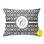Ikat Outdoor Throw Pillow (Rectangular) (Personalized)