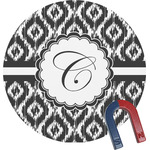 Ikat Round Fridge Magnet (Personalized)