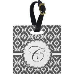 Ikat Square Luggage Tag (Personalized)