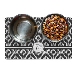 Ikat Pet Bowl Mat (Personalized)