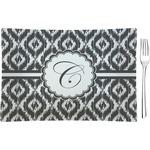 Ikat Glass Rectangular Appetizer / Dessert Plate - Single or Set (Personalized)