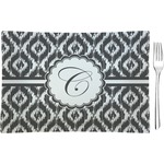 Ikat Glass Rectangular Appetizer / Dessert Plate - Single or Set (Personalized)