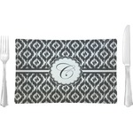 Ikat Glass Rectangular Lunch / Dinner Plate - Single or Set (Personalized)