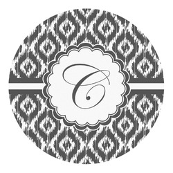 Ikat Round Decal - Custom Size (Personalized)