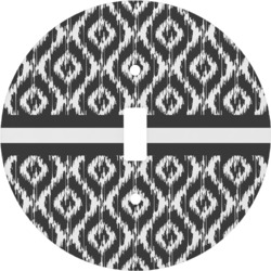 Ikat Round Light Switch Cover (Personalized)
