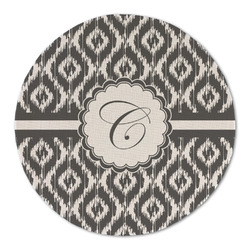 Ikat Round Linen Placemat (Personalized)
