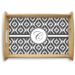Ikat Natural Wooden Tray (Personalized)