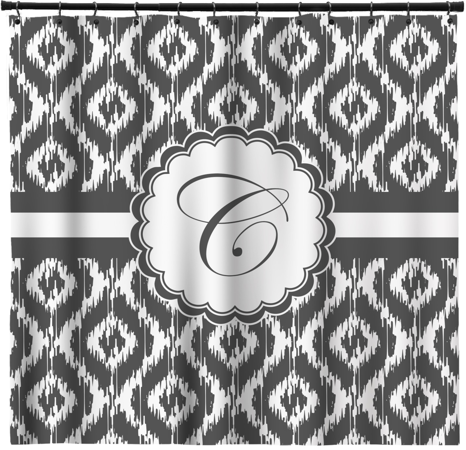 Ikat Shower Curtain Custom Width Height Personalized Youcustomizeit