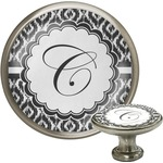 Ikat Cabinet Knob (Silver) (Personalized)