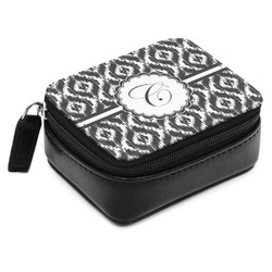 Ikat Small Leatherette Travel Pill Case (Personalized)