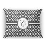 Ikat Rectangular Throw Pillow Case (Personalized)