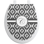 Ikat Toilet Seat Decal - Round (Personalized)