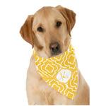 Trellis Dog Bandana Scarf w/ Initial