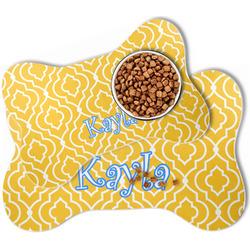 Trellis Bone Shaped Dog Food Mat (Personalized)