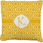 Trellis Faux-Linen Throw Pillow (Personalized)