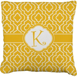 Trellis Burlap Throw Pillow (Personalized)
