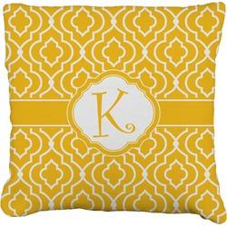Trellis Faux-Linen Throw Pillow (Personalized)