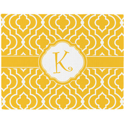 Trellis Woven Fabric Placemat - Twill w/ Initial