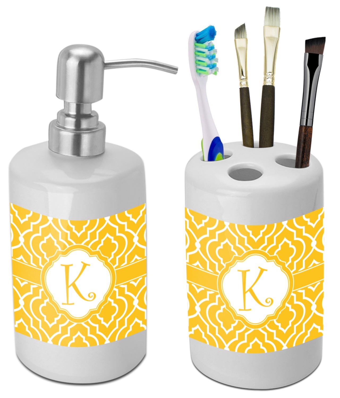 Trellis Bathroom Accessories Set (Ceramic) (Personalized ...