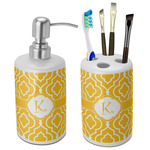 Trellis Bathroom Accessories Set (Ceramic) (Personalized)