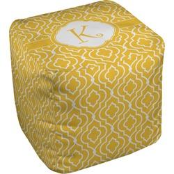 Trellis Cube Pouf Ottoman (Personalized)