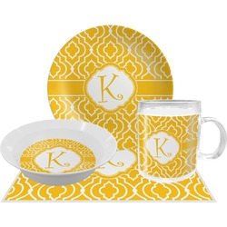 Trellis Dinner Set - 4 Pc (Personalized)