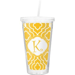Trellis Double Wall Tumbler with Straw (Personalized)