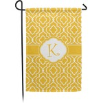 Trellis Small Garden Flag - Double Sided w/ Initial