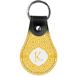 Trellis Genuine Leather  Keychain (Personalized)