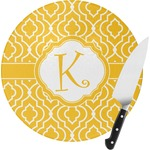 Trellis Round Glass Cutting Board (Personalized)