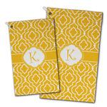 Trellis Golf Towel - Full Print w/ Initial