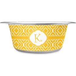 Trellis Stainless Steel Pet Bowl (Personalized)
