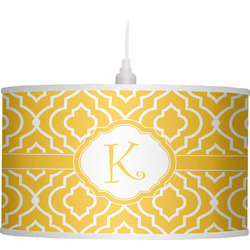 Trellis Drum Pendant Lamp Linen (Personalized)