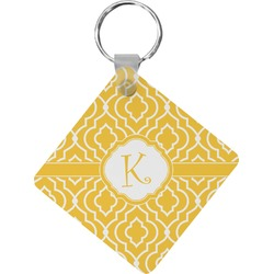 Trellis Diamond Key Chain (Personalized)