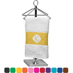 Trellis Finger Tip Towel (Personalized)