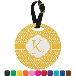 Trellis Round Luggage Tag (Personalized)
