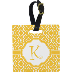 Trellis Square Luggage Tag (Personalized)